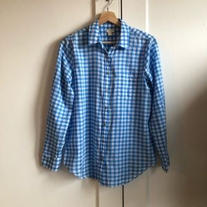 J.Crew Factory Gingham Boy Fit Shirt